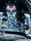 Muerte Se Pasea by Big Toe Sexy Tattoo Woman Rolled Canvas or Art Poster Print