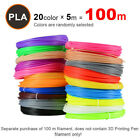 5M 20 Colors 3D Pen Filament PLA 1.75mm Plastic Rubber Printing Filaments 666