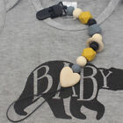 Silicone Beads Baby Infant Teething Soother Pacifier Clip Chain Holder Exquisite