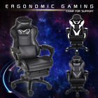 Massage Gaming Racing Chair Swivel Pu Office Reclining Recliner With Footrest Uk