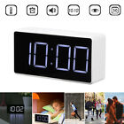 LED Digital Alarm Clock with USB Port Snooze Home Table Clock Bedside Electronic