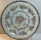 VINTAGE WOOD & SONS ENGLAND 62 CAKE PLATE FLORAL WITH GOLD TRIM 8""