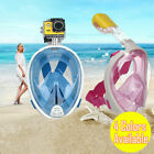 Kyпить Diving Swimming Full Face Anti-Fog Mask Surface Goggles Snorkel Scuba for GoPro на еВаy.соm