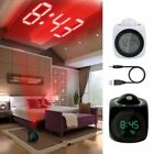Home Multifunction LED Digital Projection Alarm Clock Voice Talking LCD Display