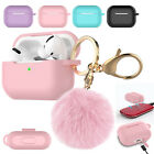 AirPods Pro Silicone Charging Case Cute Cover with Keychain Fur Ball For Apple