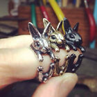 Rabbit Mid Finger Knuckle Opening Ring Couples Jewelry Birthday Gift Novelty