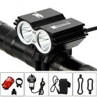 Lumen Cycling Front Light Bicycle MTB Bike LED Head+Rear Lamp Rechargeable