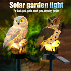 LED Owl Solar Powered Garden Light Outdoor Ornament Lawn Waterproof Statue Lamps