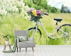 3D Flower Plant Bicycl P66 Transport Wallpaper Mural Self-adhesive Removable Zoe