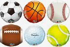 "Golf Baseball Tennis Soccer Football Basketball Sports Balls 18"" Foil Balloons"