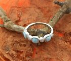 Silver Larimar CZ Square Ring,Fashion,Girl's Jewelry,Ocean,Birthday,Comfort Fit