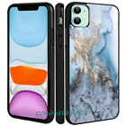 Creative Blue Art Marble Pattern Rubber Case Cover For iPhone 11 11 Pro XS 8 7.
