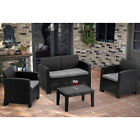 Mcombo 5pcs Patio Outdoor Furniture Set Plastic Charcoal Wicker Pattern Sofa 800