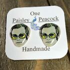 Elton John Stud Earrings Music Legend-British Pop Star- Yellow brick Road