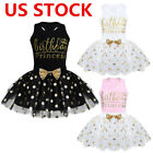 Toddler Baby Girl Kid Birthday Party Princess Outfit Bow Tutu Skirt Dress 12M 6Y