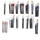 Miniature Painting Brushes Sets Nylon Hair Hobby Model Kit Tools Accessories