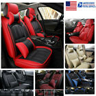 Car Seat Cover Protector Front & Rear Full Set Cover+Pillows  Leather Interior R $121.99 USD on eBay