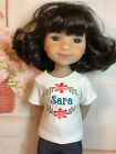 Embroidered Personalized T-shirt for Ruby Red Galleria Fashion Friends dolls