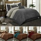 7 Piece Comforter Set Western Cabin Lodge Micro Suede Bed Skirt Queen/King Gift image