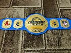 Chargers Los Angeles Champions Wrestling Leather Belt 4MM Plates Replica Adults $199.99 USD on eBay