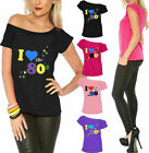 Ladies I Love The 80s T Shirt Short Sleeves Womens Retro Pop Star Top Tshirt