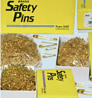 720 pcs Premium Safety Pins Assorted 5 Size 3 Colors with Storage Box