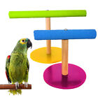 Wooden Pet Bird Parrot Cage Training Stand Perch Play Budgie Parakeet Toy Nove