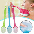 Long Silicone Exfoliat Body Shower Handle Back Brush Massage Spa Scrubber Bath