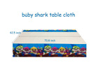 Baby Shark Birthday Party Supplies Tableware Table Cover Plastic Decorations