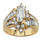 Women Marquise Cut Cubic Zirconia Engagement Anniversary Finger Ring Novelty