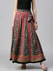 Traditional Women Maxi Bohemia Indian Skirt Cotton Broomstick Long Printed Skirt