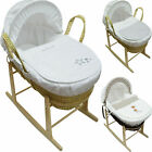 Used, Baby Moses Basket with Mattress, Cover, Quilt, Hood, Dressing And Rocking Stand for sale  Shipping to South Africa