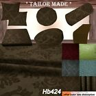 Hb424 Dk-Brown Damask Sofa Seat Patio Bench 3D Box Cushion Bolster Cover/Runner