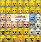 LEGO - FEMALE Minifigure Heads - PICK YOUR STYLE - Yellow Flesh Faces People