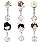 Numeral Analog Quartz Clip-On* Fob Nurse Hanging Luminous Pocket Watch Novelty