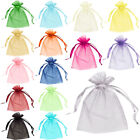 10 Organza Bags Jewellery Pouches Wedding Favour Party Mesh Drawstring Gift Cake