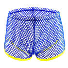 Men's Sexy Mesh See-through Boxers Briefs Low Waist Breathable Underwear Cosy