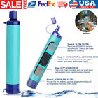 Simpure Water Filter Bottle 2-Stage Integrated Personal Filter Straw For Hiking