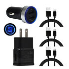 For LG Stylo 5 4 Samsung Galaxy S10e S10 Power USB Wall Car Charger Type C Cable