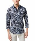 I-N-C Mens Abstract Button Up Shirt