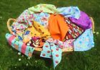 Cotton Fabric Remnant 14 Offcuts Vintage Retro Shabby Chic Floral Spot Toys Kids