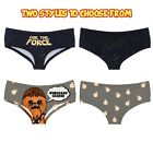 Star Wars Women's BoyShorts Panties - Sexy Boy Shorts The Force or Chewbacca $9.95 USD on eBay