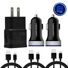 Cell Phone Adapters for LG Stylo 4 G8 ThinQ Wall Car Charger Bundle Cord Lot