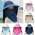 Women Dust Proof Sun Protection Mesh Neck Flap Protective Peaked Cap Novelty