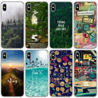 For iPhone XS Max X 8 7 6 landscape Pattern Ultra Thin Soft TPU Phone Case Cover