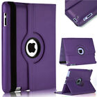 """Leather Case 360 Rotating Wallet Cover for iPad Air & Mini 1/2/3/4 Pro 12"""""""