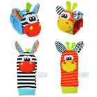 Handbells Animal Infant Baby Hand Wrist Bell Foot Sock Rattles Soft Kid Toy US
