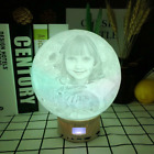 Moon Light Gift For Women Personalized Photo 3D Printed Lamp Bluetooth Speaker