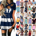 New Womens Summer Short Sleeve Casual Loose Tops Tunic T-shirt Blouse Plus Size