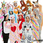Unisex Adult Fancy Dress Women Kigurumi Anime Cosplay Flannel Onesie00 Sleepwear